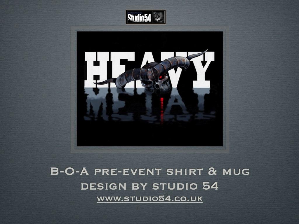 B-O-A pre event shirt and mug